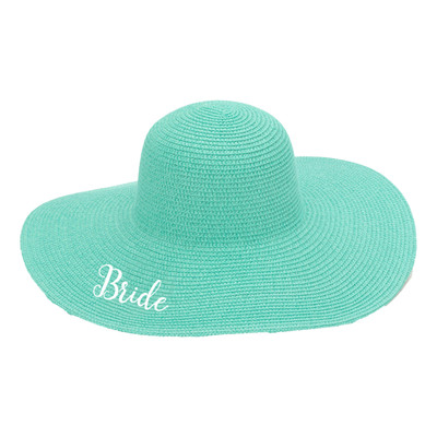 Personalized Floppy Hat For Ladies Mint - Bride