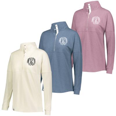 Monogrammed Ladies Sophomore 1/4 Zip Pullover