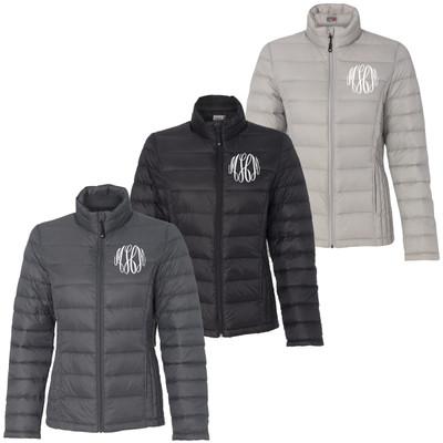 Monogrammed Packable Down Full-Zip Jacket