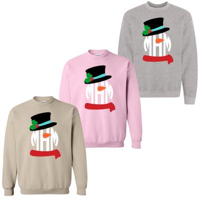 Monogrammed Snowman Sweatshirt