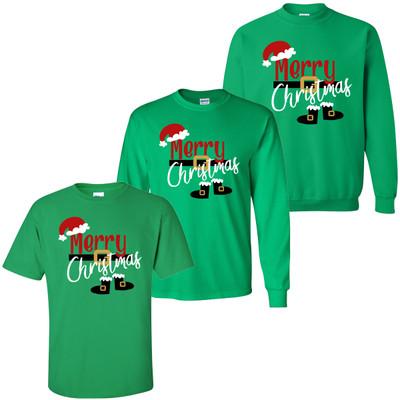 Merry Christmas Santa Shirt - Irish Green
