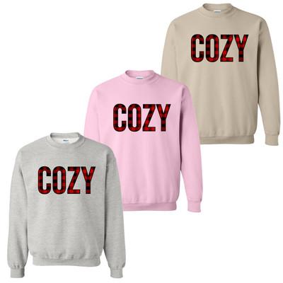 Cozy Buffalo Plaid Sweatshirt