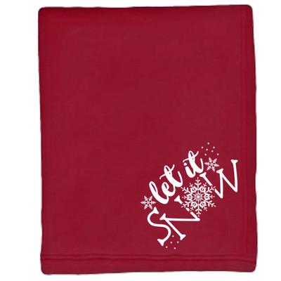Sweatshirt Blanket - Red - Let It Snow