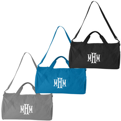 Monogrammed Small Duffel Bag
