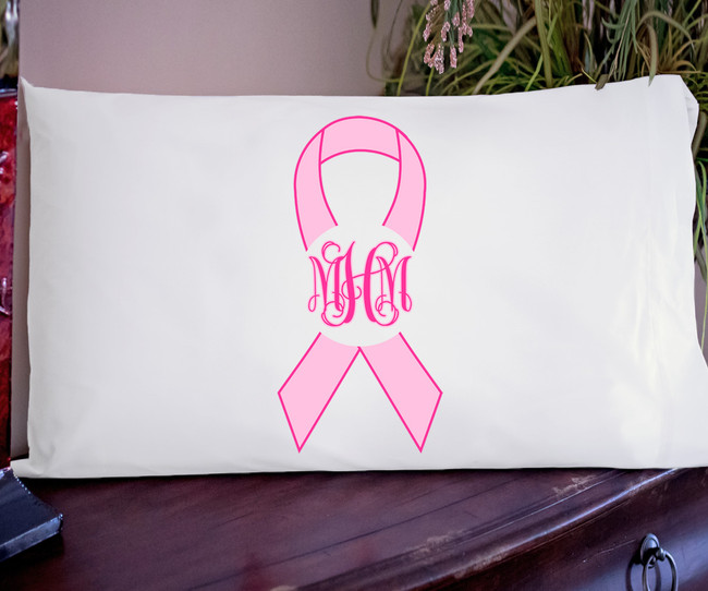 Personalized Pink Awareness Graphic Pillowcase