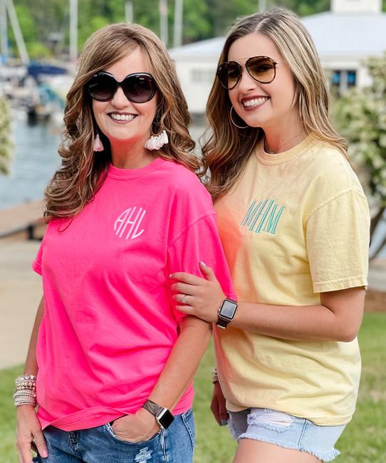 Monogrammed Comfort Colors T-Shirt