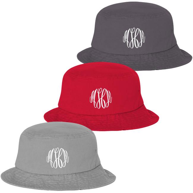 Monogrammed Bucket Hat