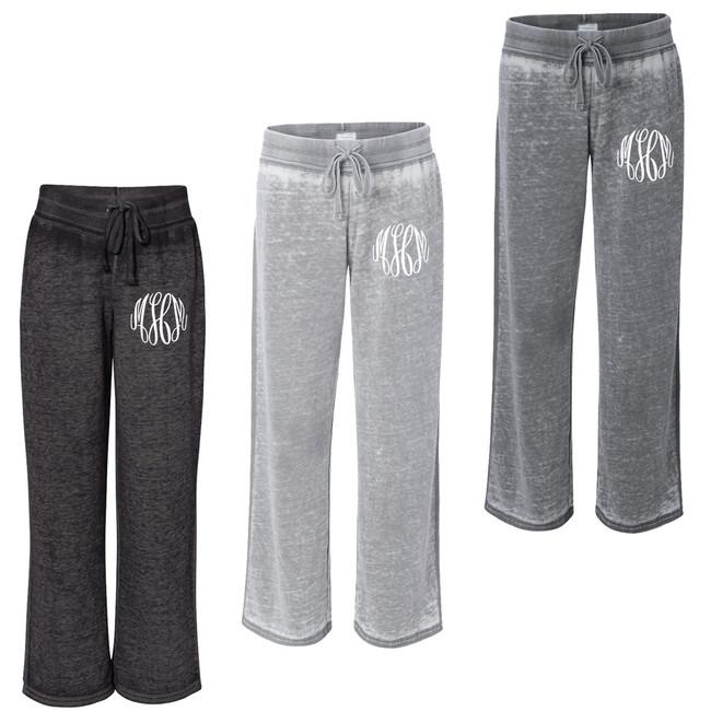 Monogrammed Zen Fleece Sweatpants