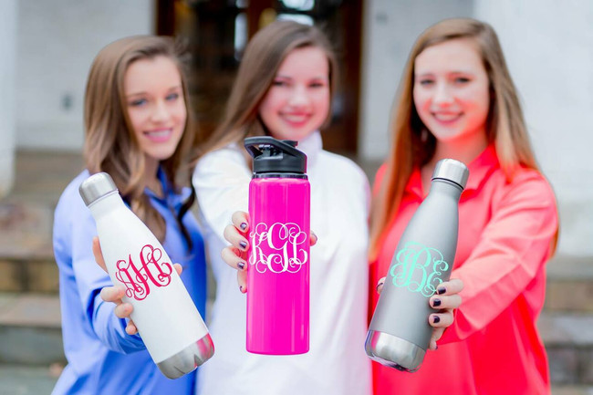 Monogrammed Stainless Water Bottle