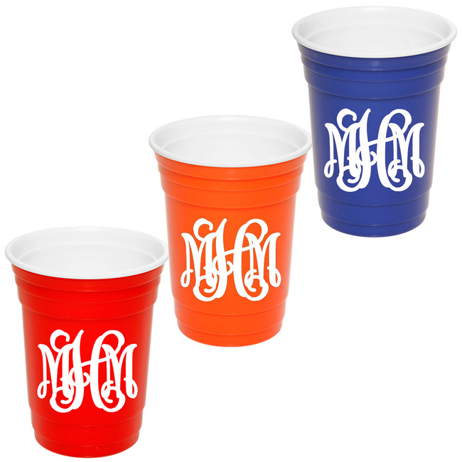 Monogrammed Redneck Party Cup