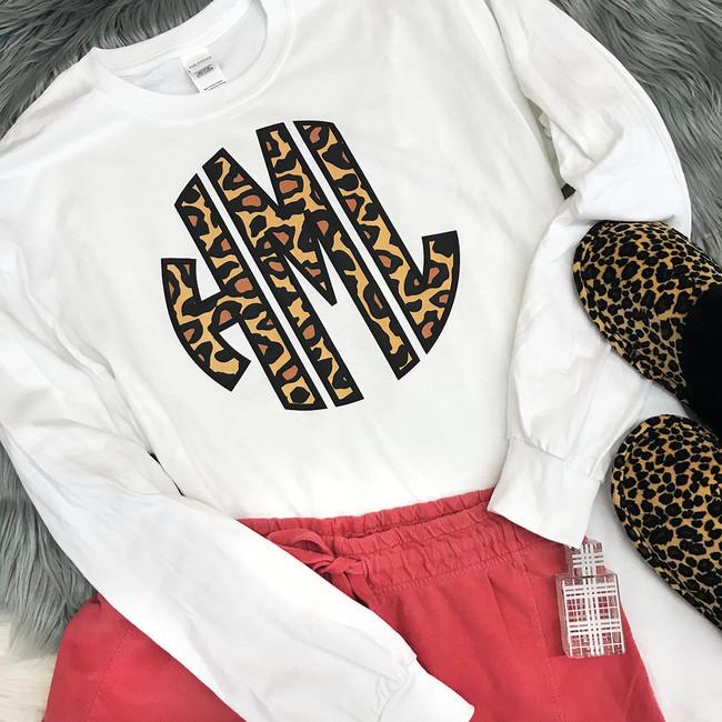 Leopard Monogram Tee