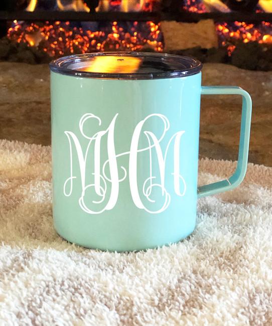 Monogrammed Stainless Steel Townie Mug