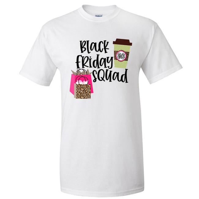 Monogrammed Black Friday Squad Graphic T-Shirt