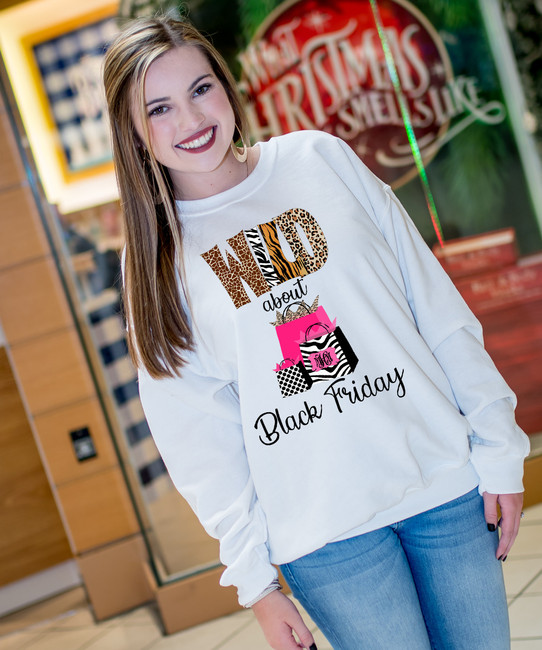 Monogrammed Wild About Black Friday Graphic T-Shirt