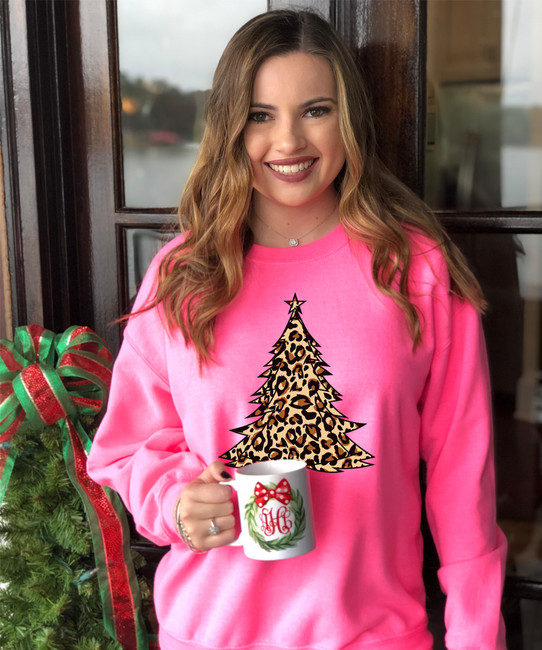 Leopard Christmas Tree T-Shirt