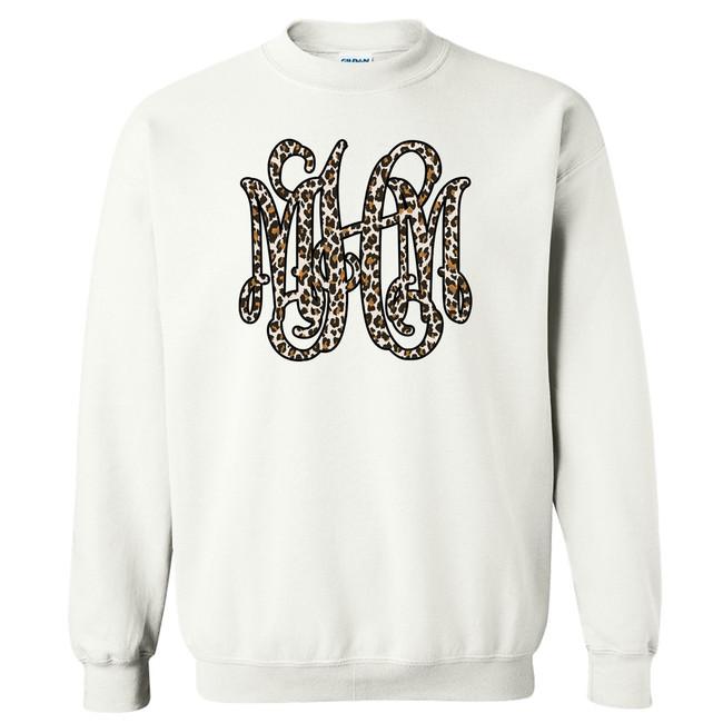 Full Monogrammed Leopard Graphic Shirt