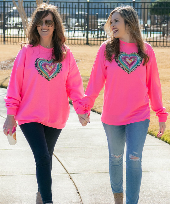 Leopard Colorful Heart T-Shirt