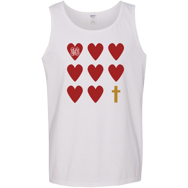 Monogrammed Hearts And Cross Graphic Tee