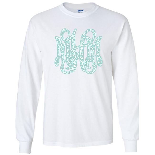 Spring Leopard Monogram Graphic Shirt