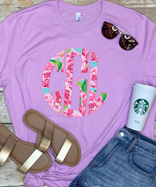 Lilly Monogram Bella Canvas Tee - Choose Your Own Lilly Print