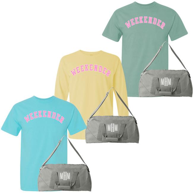 Weekender Comfort Colors T-Shirt And Duffel Bag Bundle