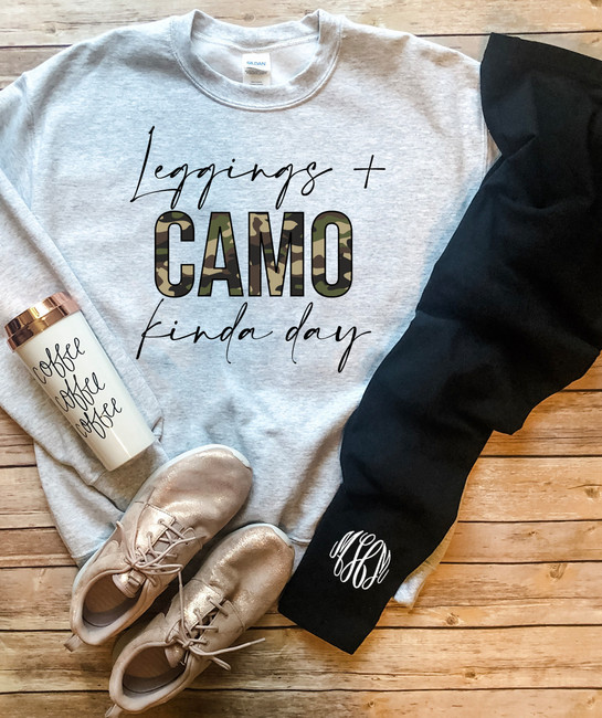 Leggings And Camo Kinda Day Shirt