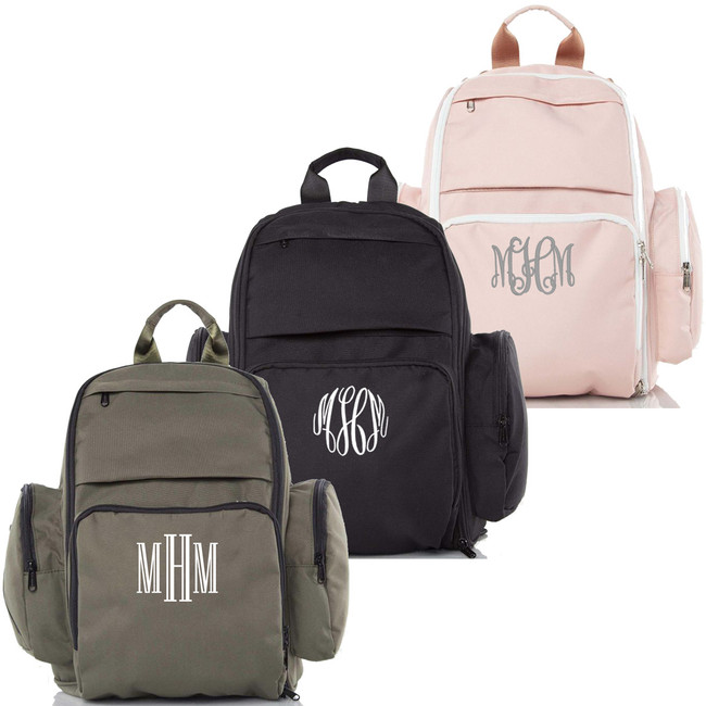 Monogrammed Motion Backpack