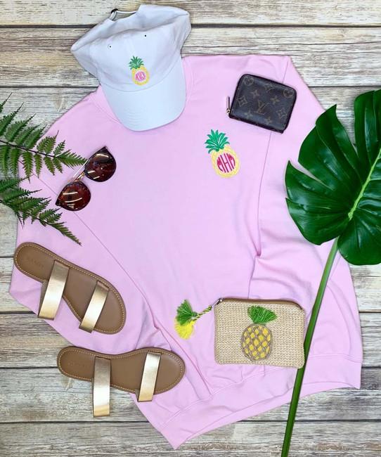 Monogrammed Embroidered Pineapple Sweatshirt