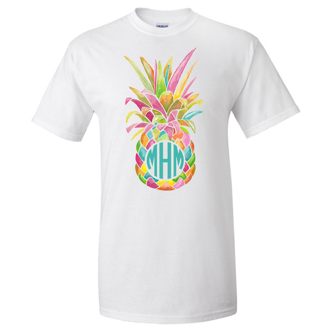 Personalized Rainbow Pineapple Graphic T-Shirt
