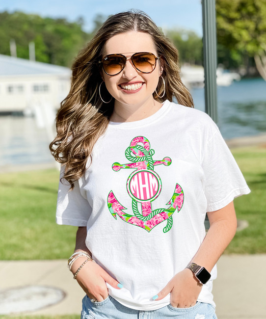 Monogrammed Lilly Anchor Graphic Tee