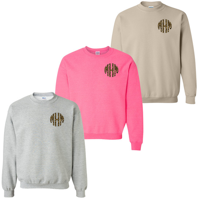 Monogrammed Leopard Sweatshirt