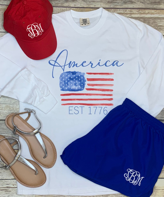 America Est 1776 Flag Graphic Tee