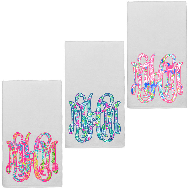 Monogrammed Lilly Graphic Beach Towel