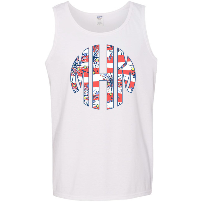 Monogrammed Patriotic Lilly Graphic Tee