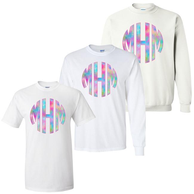 Unicorn Monogram Girls Graphic Shirt