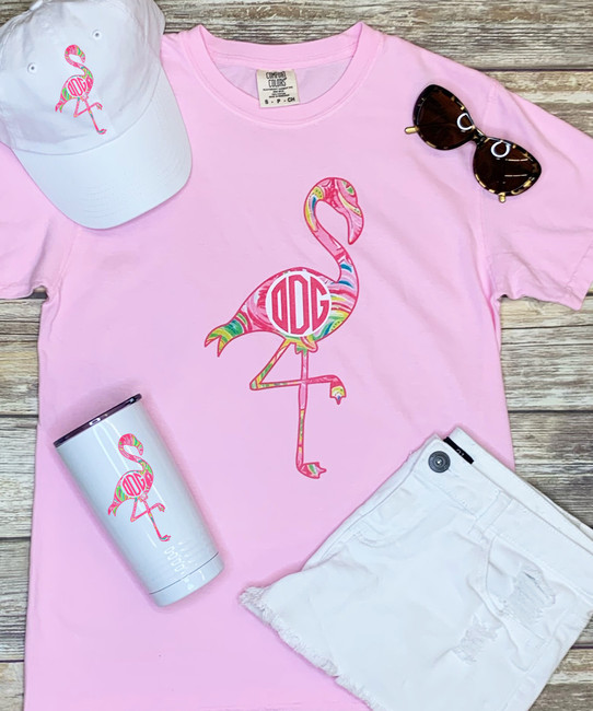 Personalized Lilly Flamingo Unstructured Cap