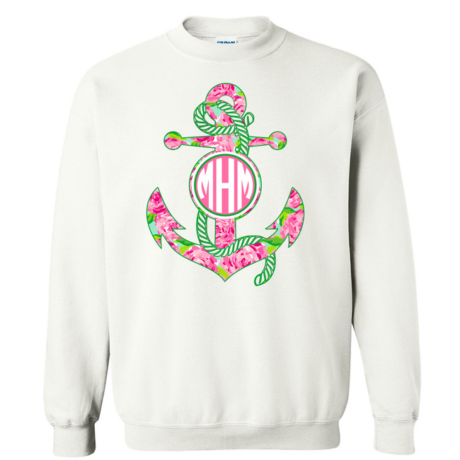 Girls Monogrammed Lilly Anchor Graphic Shirt