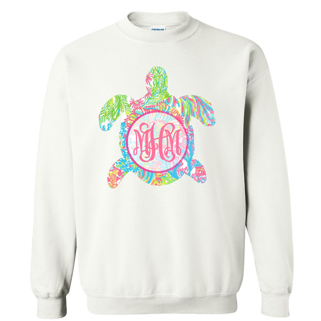 Girls Monogrammed Lilly Sea Turtle Graphic Shirt