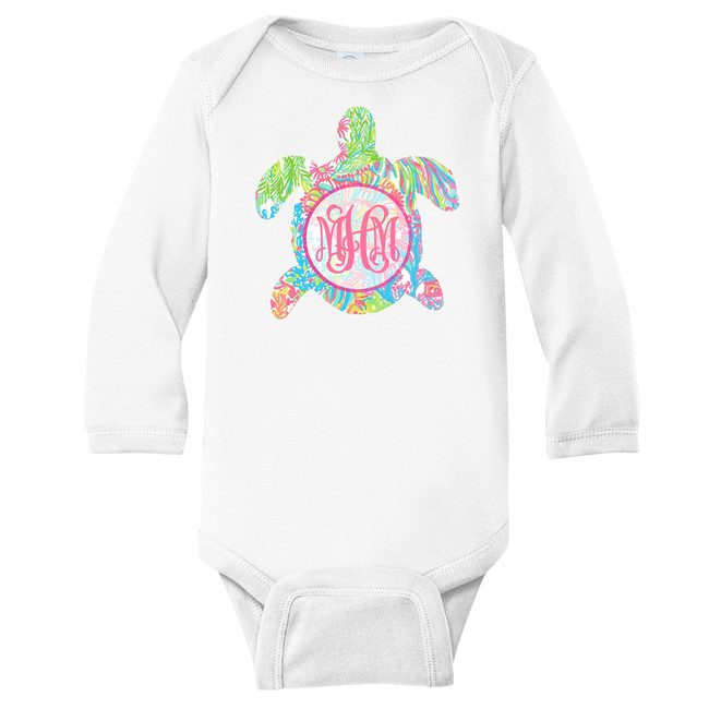 Monogrammed Infant Lilly Sea Turtle Graphic Shirt