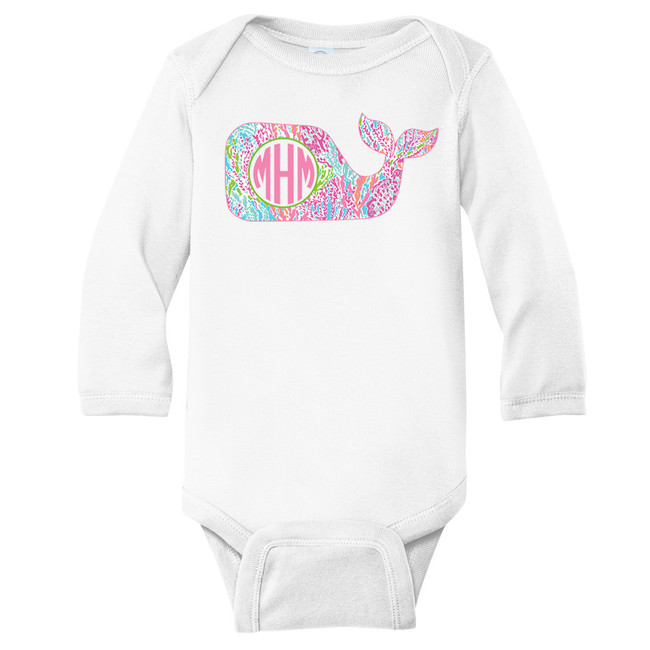 Monogrammed Infant Lilly Whale Graphic Shirt