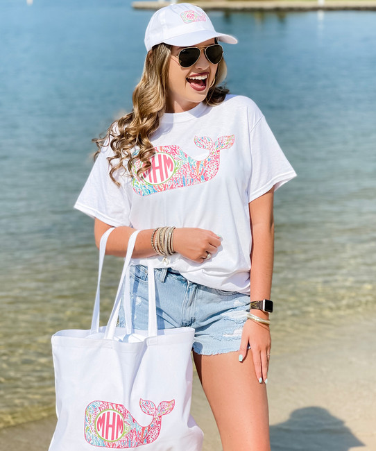 Personalized Lilly Whale Unstructured Cap