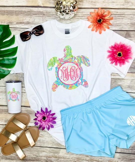 Monogrammed Lilly Sea Turtle Bundle