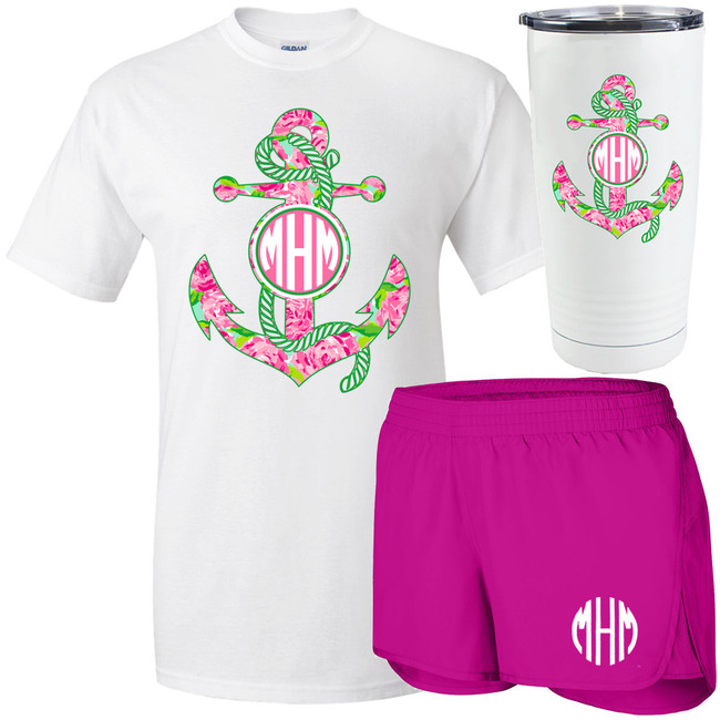 Monogrammed Lilly Anchor Bundle
