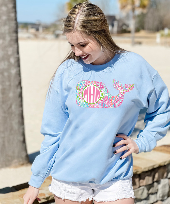 Monogrammed Lilly Whale Sweatshirt
