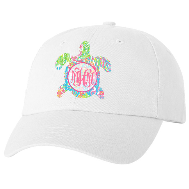Personalized Lilly Sea Turtle Unstructured Cap