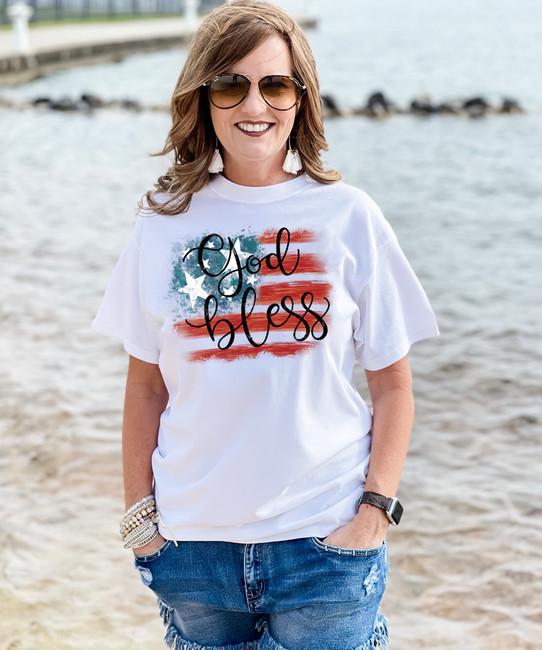 God Bless USA Graphic Shirt