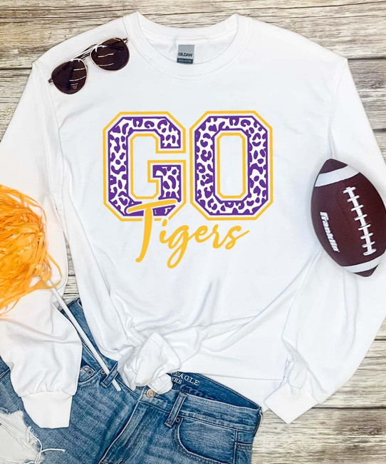 Personalized Go Team Leopard Graphic Tee Shirt