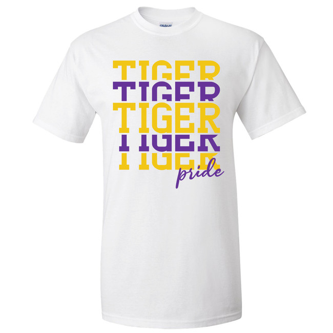 Customizable Stacked Football Graphic Tee Shirt