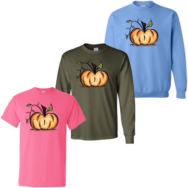 Pumpkin Graphic Tee Shirt