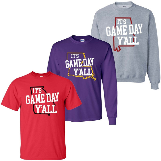 Its Game Day Yall Graphic Tee Shirt